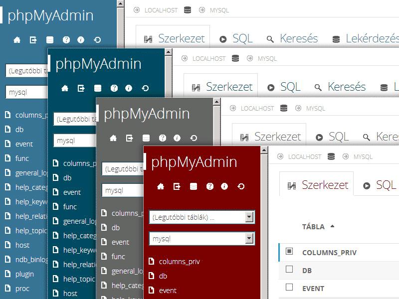 phpMyAdmin - Themes